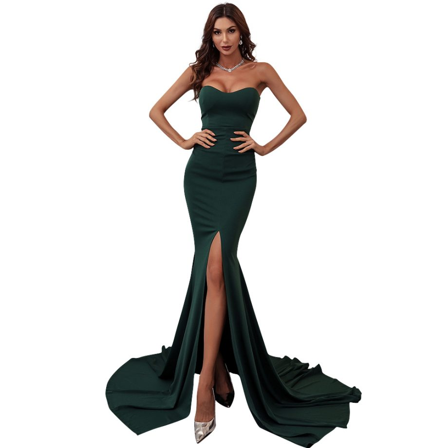 Wednesday Gown - Forest Green