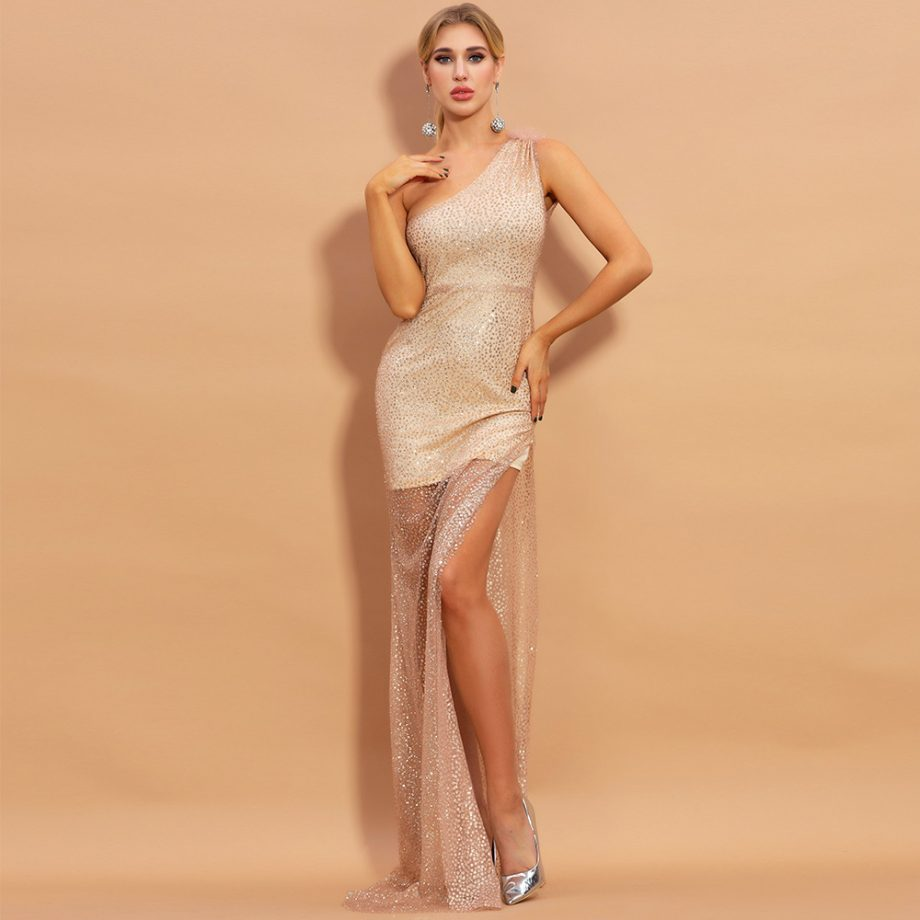 Soren One Shoulder Gown