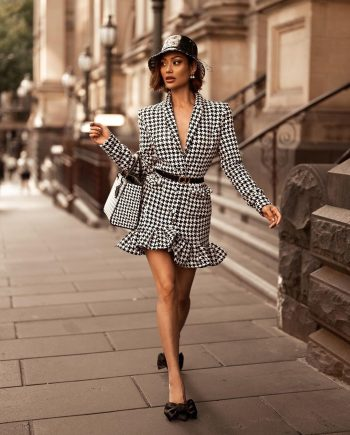 Bella Houndstooth Blazer Dress
