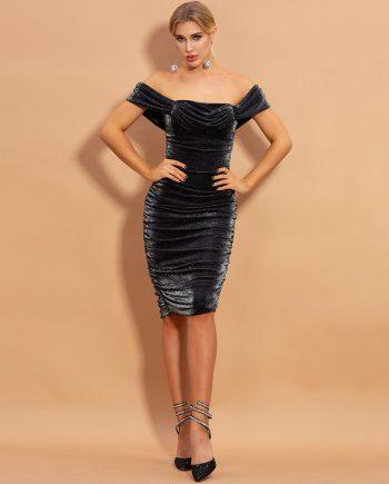 Velocity Velvet Midi Dress