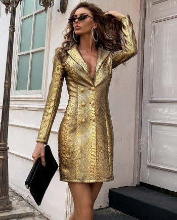 So Crown Blazer Dress