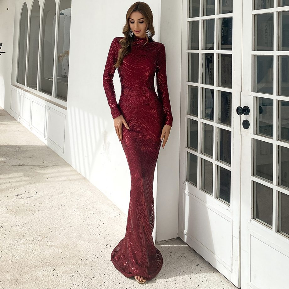 Hala Gown - Deep Red